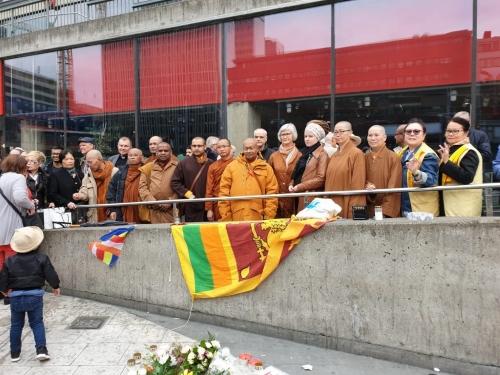 Buddhister i manifestation, Stockholm.