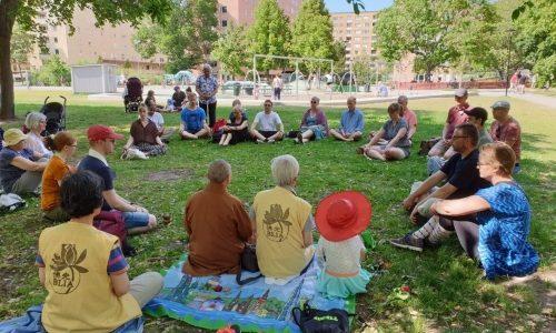 Meditation och vandring, Stockholm.